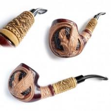 Трубка курительная Супер кожа светлая (Беркут)