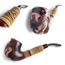 Трубка курительная Супер кожа светлая (Американский орел)